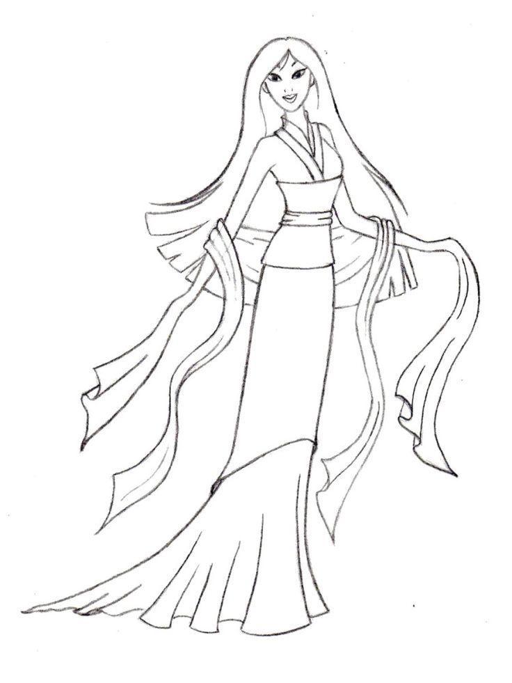 Bilder von Princess Mulan Färbung Seiten Kinder 7211 | coloring ...