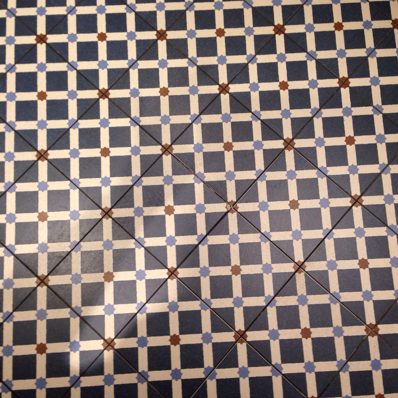 Blue tile floor in Istanbul