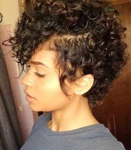 Easy Hairstyles For Short Natural Black Hair In 2020 Hair Styles Short Curly Hairstyles For Women Short Curly Haircuts