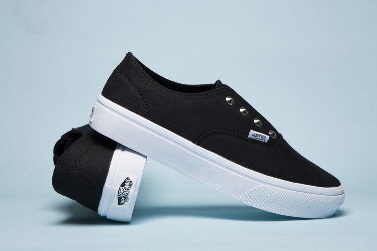 Classic Eye Black Rivets Vans Hook White Slip Shoes On Womens w4Ytqvfx