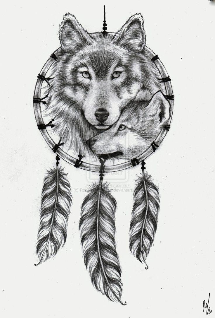 Wolf Tribal Tattoo Woman Feminine Google Search Wolf Dreamcatcher Tattoo Tribal Wolf Tattoo Wolf Tattoos For Women