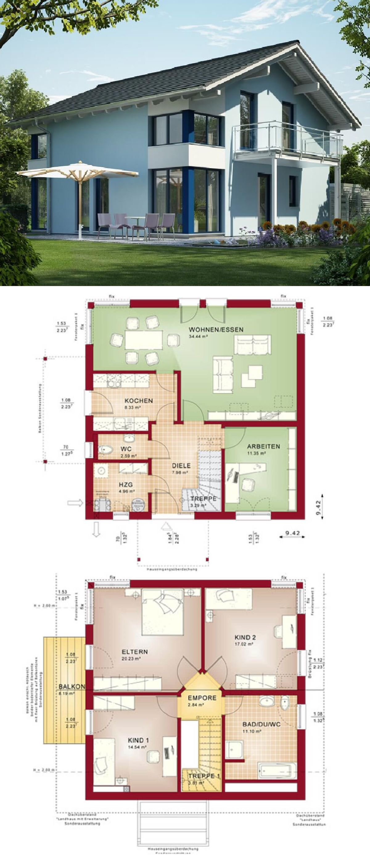 Hauspläne einfamilienhaus neubau  Einfamilienhaus Neubau modern mit Satteldach Architektur & Putz ...