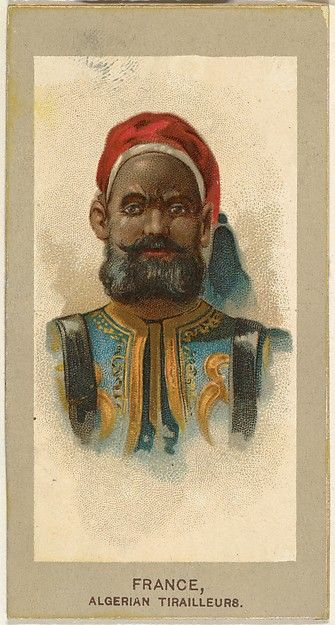 "Trade cards from the ""Military Uniforms"" series (T182), issued in 1881 to promote Abdul Cigarettes."