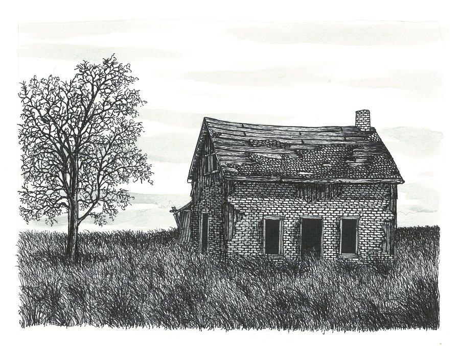 Abandoned Farm House Painting By Jonathan Baldock