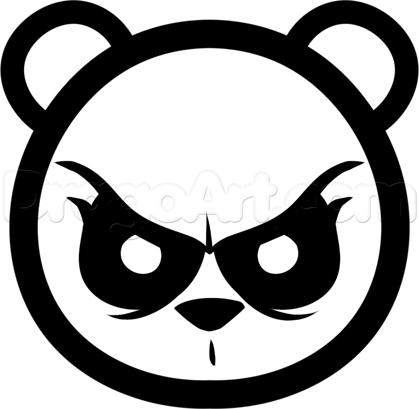 angry bear face drawing