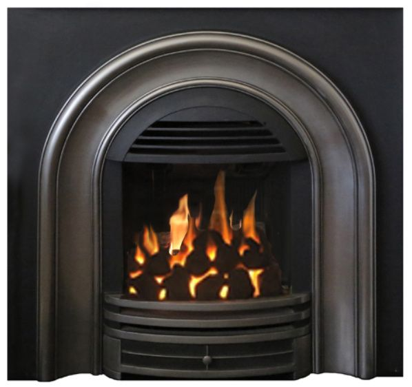 Classic Arch Gas Insert Fits Small Coal Fireplaces Fireplace