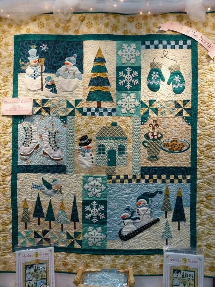 Blessings of Winter. Pattern design by Shabby Fabrics. | a bordado y ...