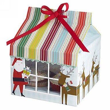 Santa Claus Cake Box | #christmas #gift #muffins
