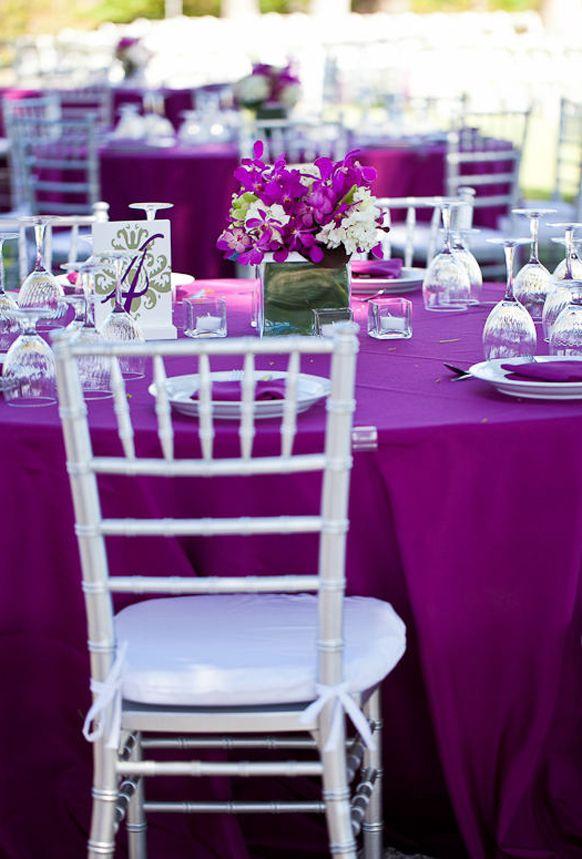 Silver Wedding Themes Weddings Romantique Purple Weddings