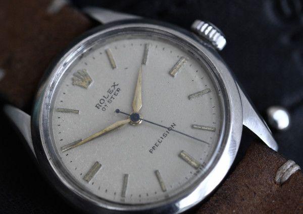 #Rolex #Oyster #Precision #6480 #1955 #vintage #leather #strap #nice #watch #steinermaastricht