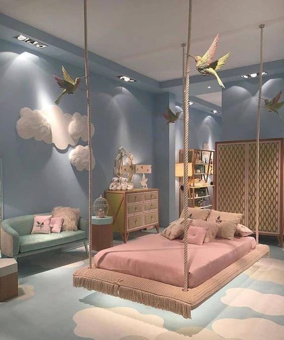 Hoy te proponemos pintar de azul las habitaciones de los niños