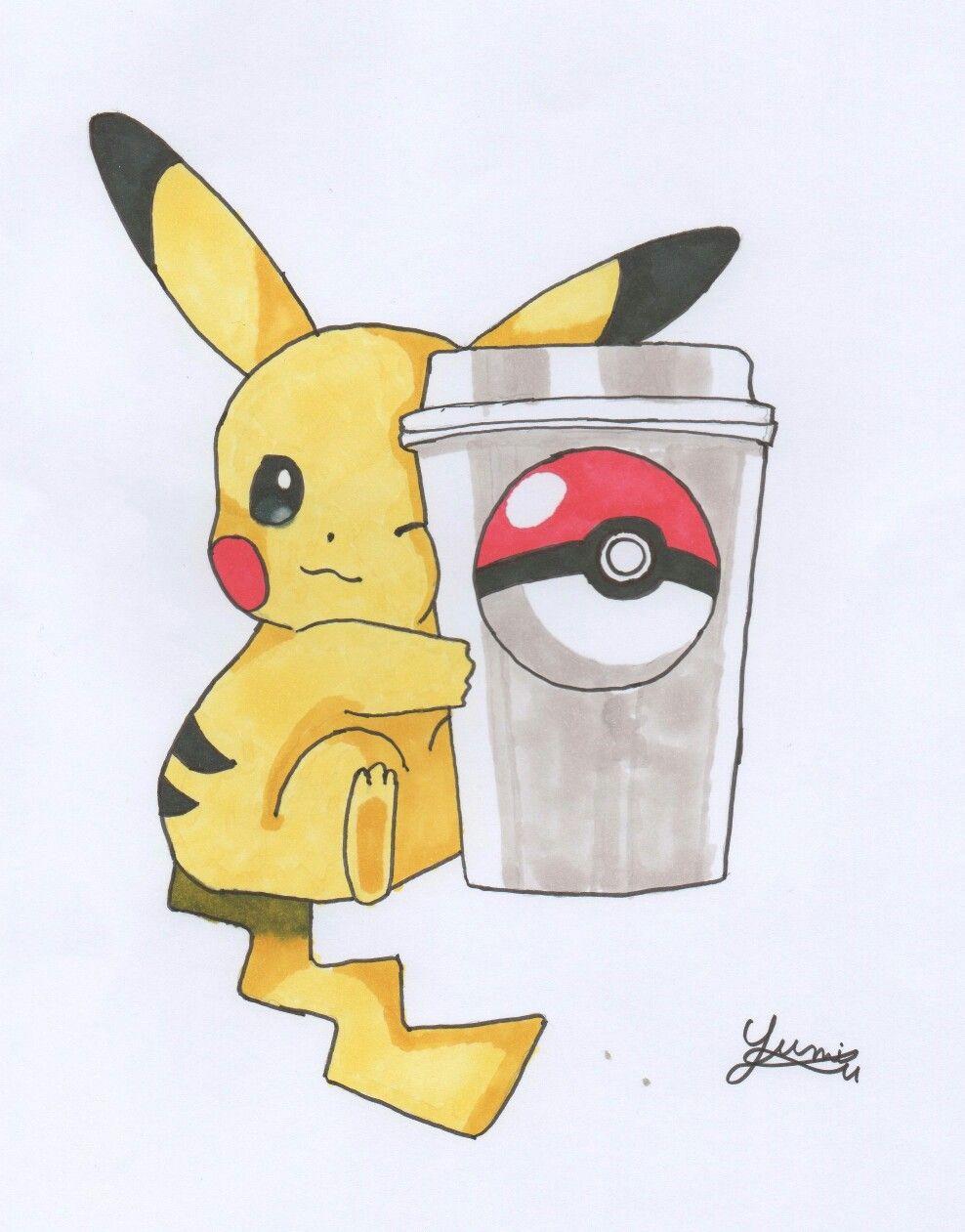 Pikachu Termine Encre Pikachu Drawing Pokemon Pikachu