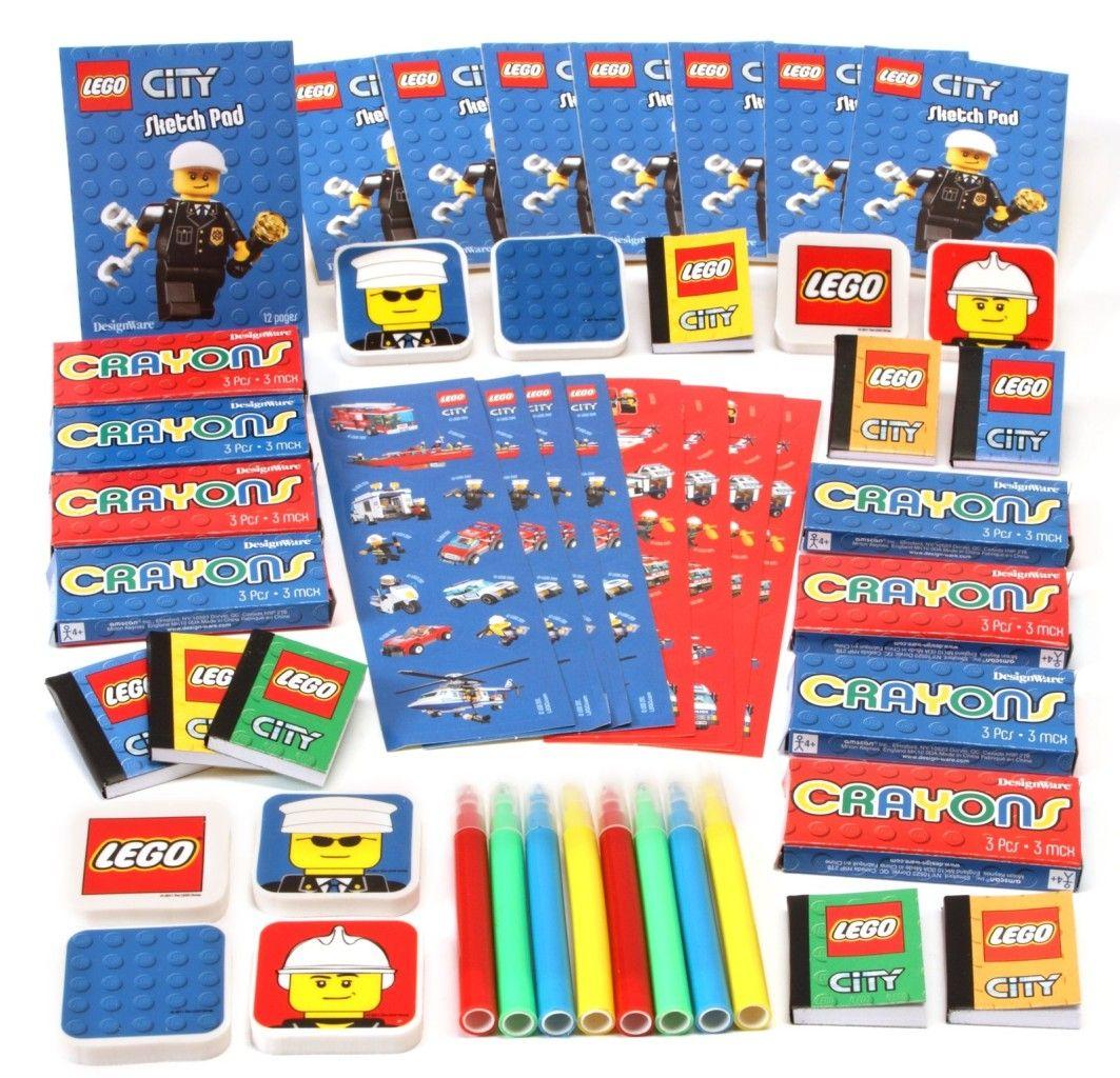 Lego City Party Supplies 48 piece Mega Mix Value
