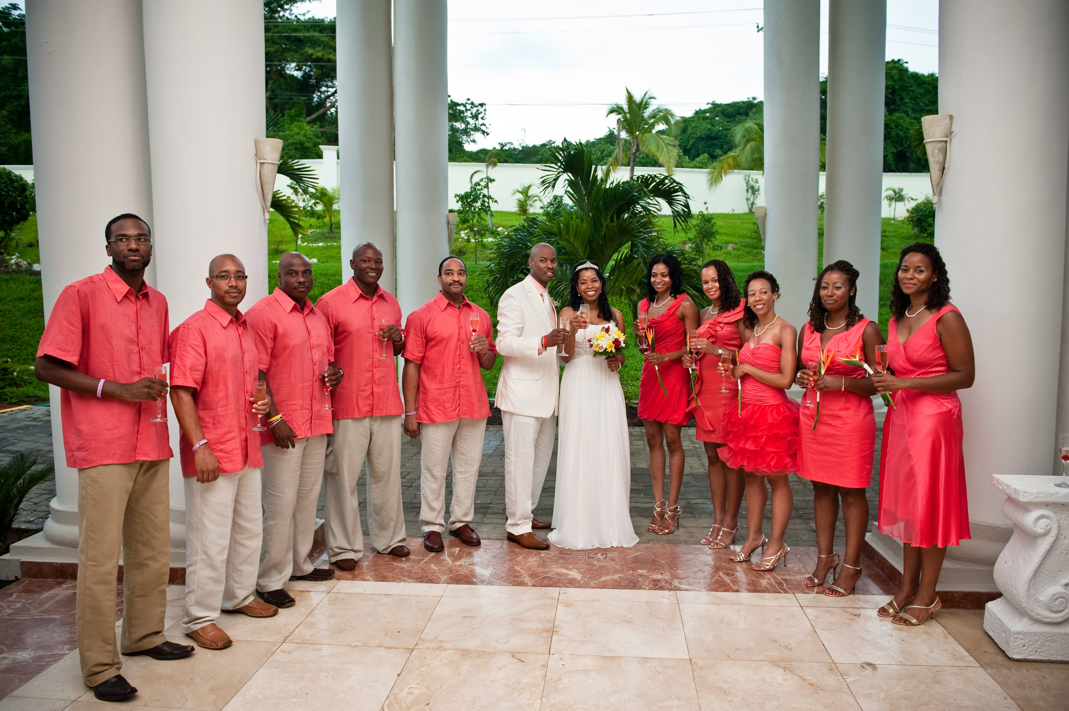 coral centerpieces for weddings | Coral Destination Wedding Color ...