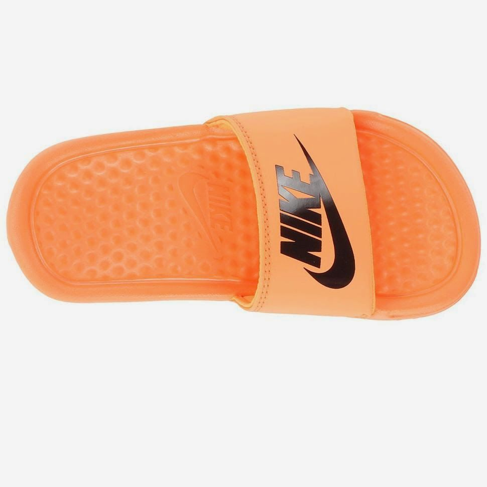 Nike slippers for men benassi orange