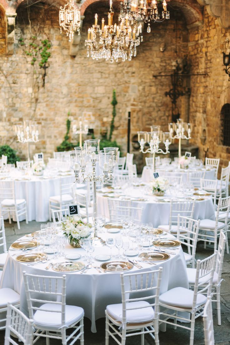 Elegant Tuscany Castle Wedding | Pinterest | Wedding, Reception and ...