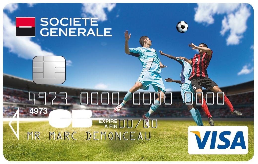 Carte Visa Societegenerale Football Goal Avec Images Cartes