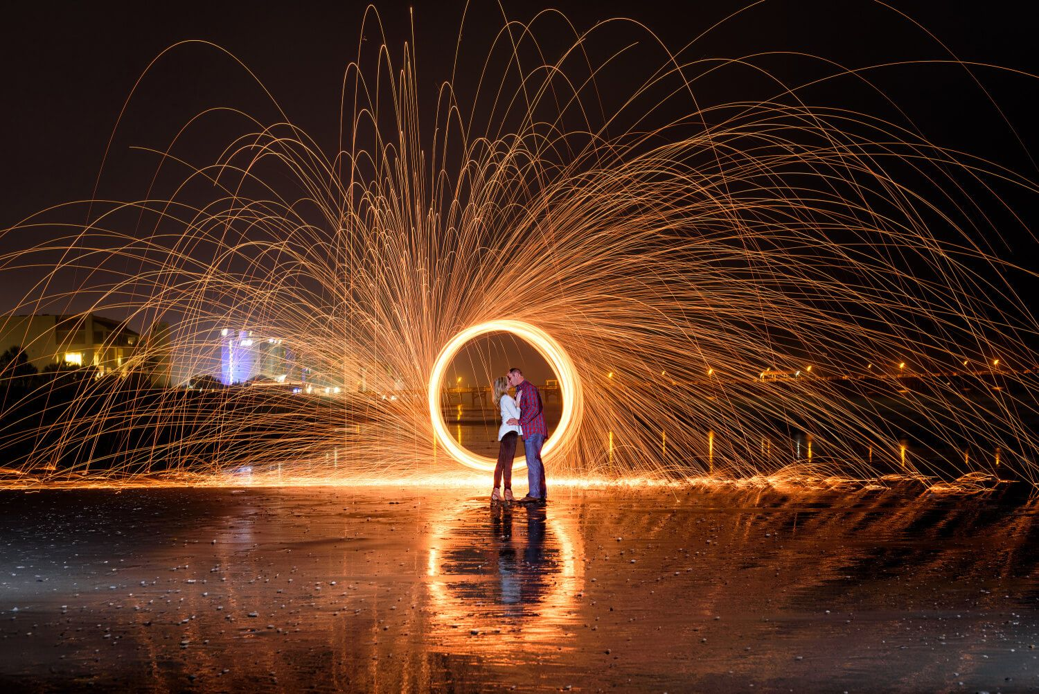 Having fun light painting with steel wool and long exposure ... for Light Painting Photography Wedding  565ane