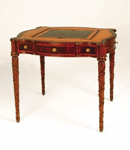 Chippendale Serpentine Mahogany Game Table c.1780