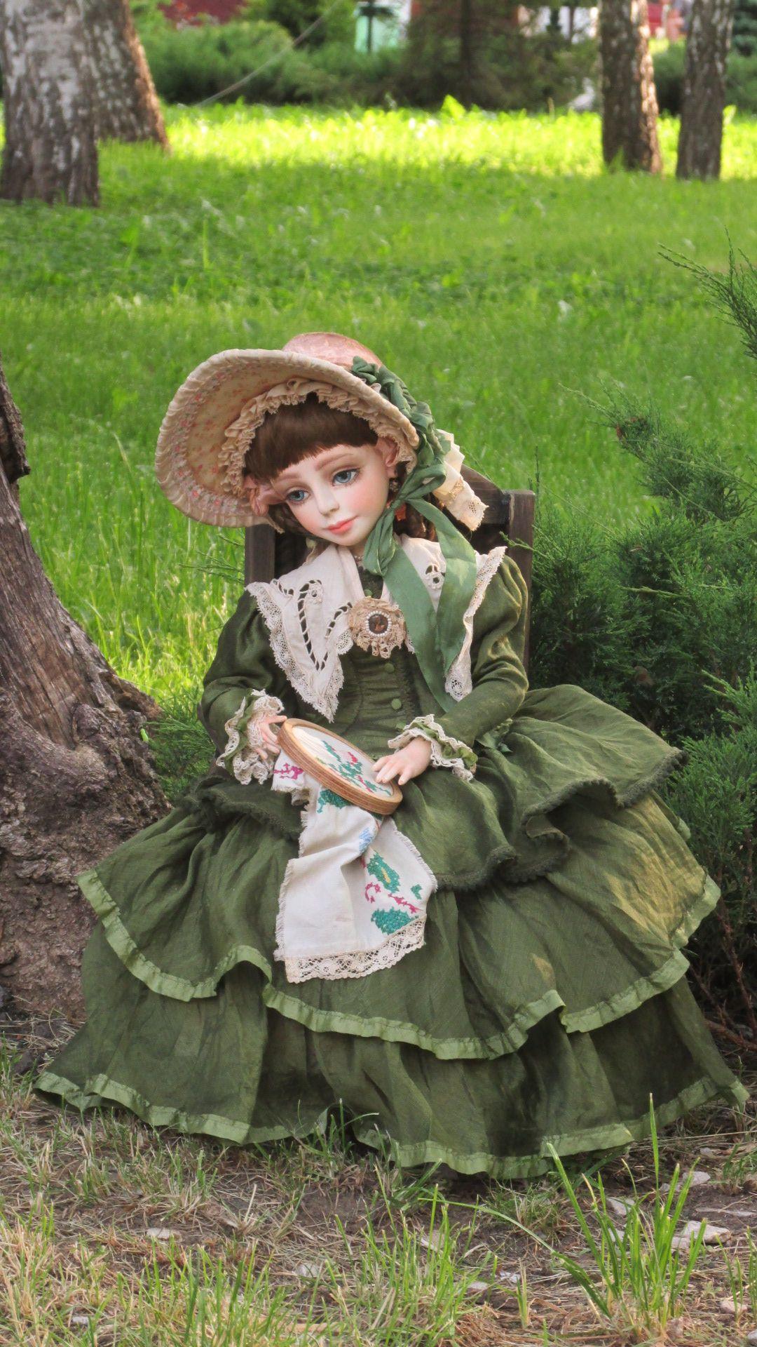 Photo of Nastenka. Mixed media doll (tel.