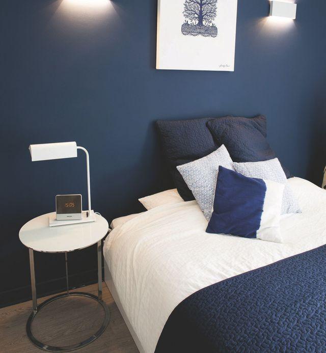 Bleu dans la déco  osez la peinture bleue - couleur peinture pour chambre a coucher