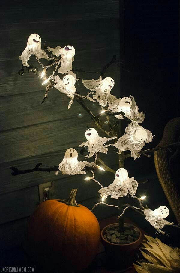 Starch Ghost Garland halloween Pinterest Garlands, Halloween