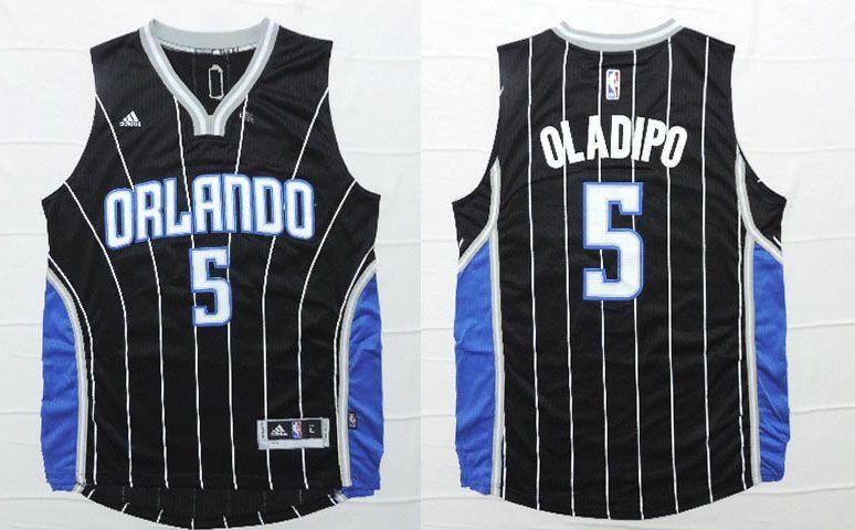 8d3f3bee0c2 Orlando Magic  5 Oladipo Black Men 2017 New Logo NBA Adidas Jersey ...