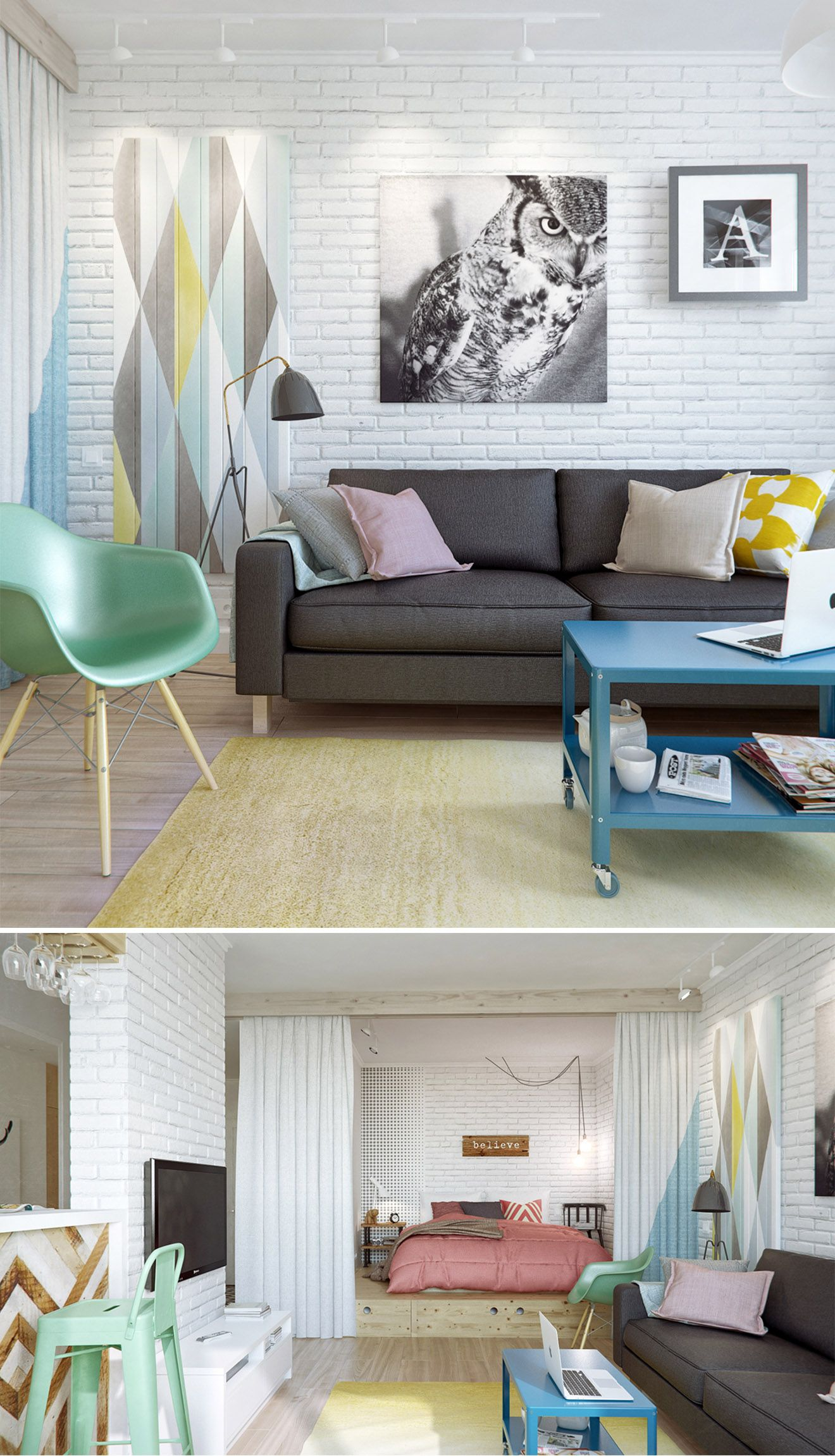 Pastel contemporary living room design interior design from int2 architecture
