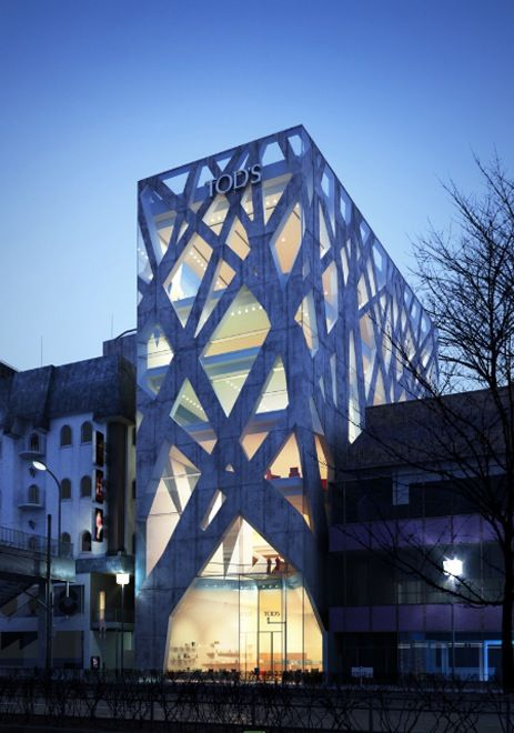 Tod's Store in Tokyo, Japan by Toyo Ito. Retail ArchitectureJapanese  ArchitectureParametric ArchitectureNatural ...