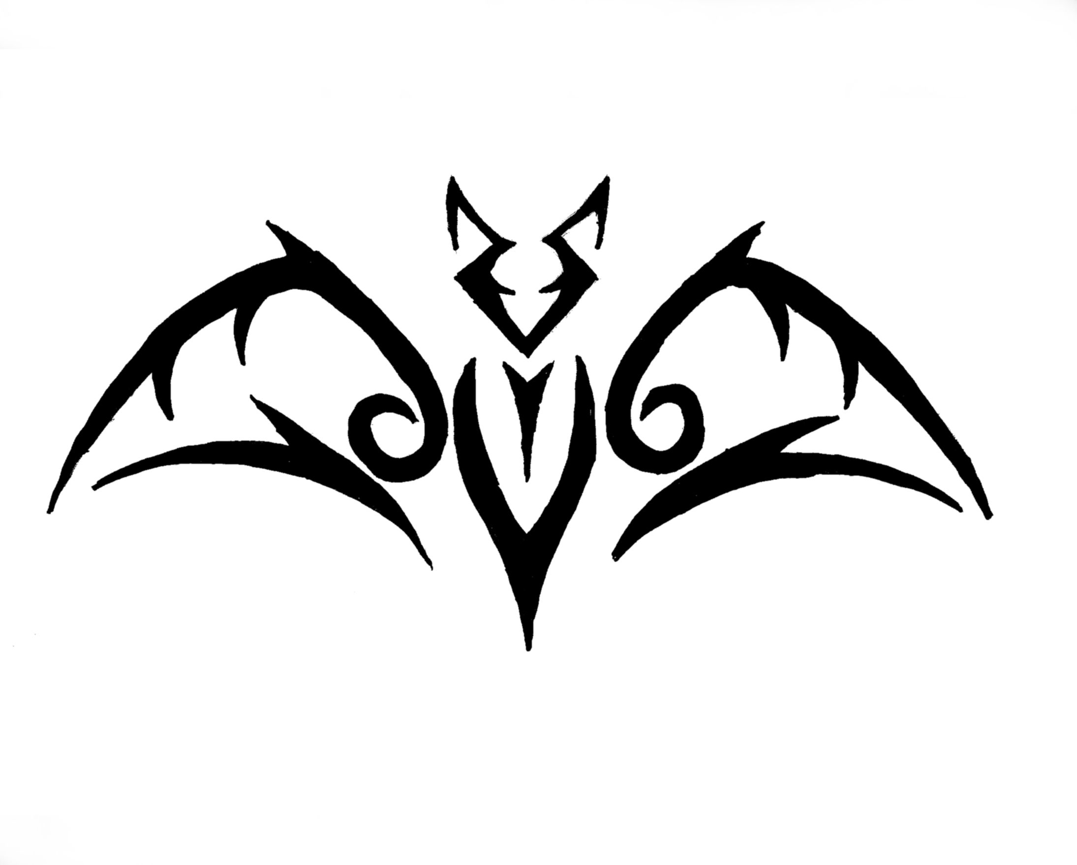 very simple tribal bat motif ideas pinterest bats. Black Bedroom Furniture Sets. Home Design Ideas