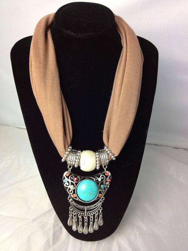 2013 Fashion Gem Necklace Jewelry Scarf Wholesale Scarf