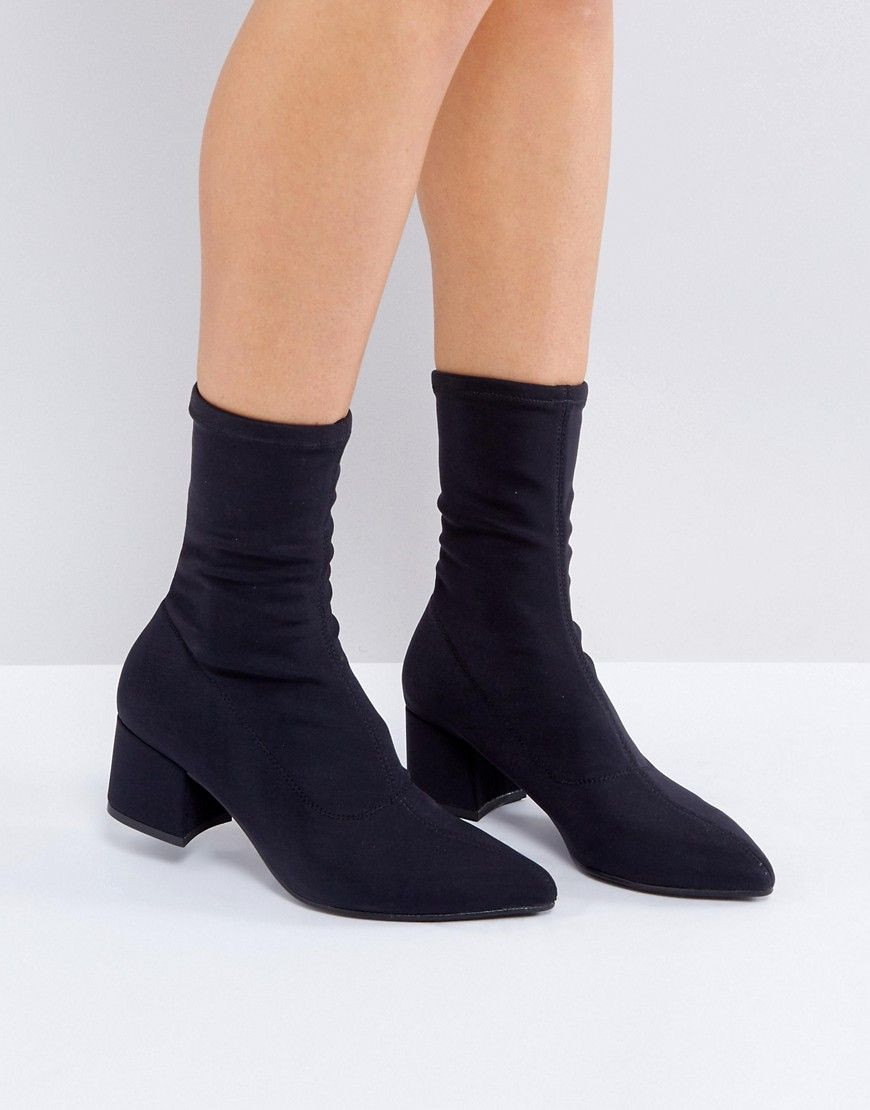 52d5ce611de33 Vagabond Mya Black Stretch Sock Boots - Black | Shop the look ...