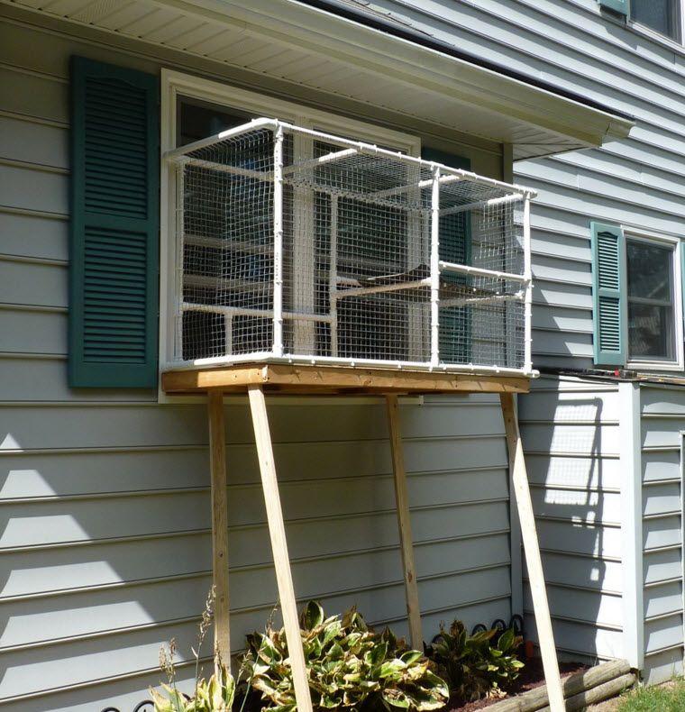 Pvc Window Catio Petdiys Com Cat Patio Cat Enclosure Cat Window