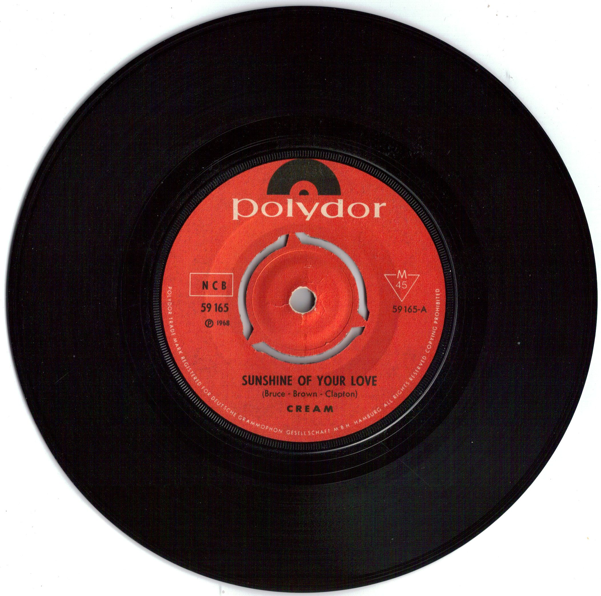 Sunshine of Your Love, The Cream, Polydor, 1968