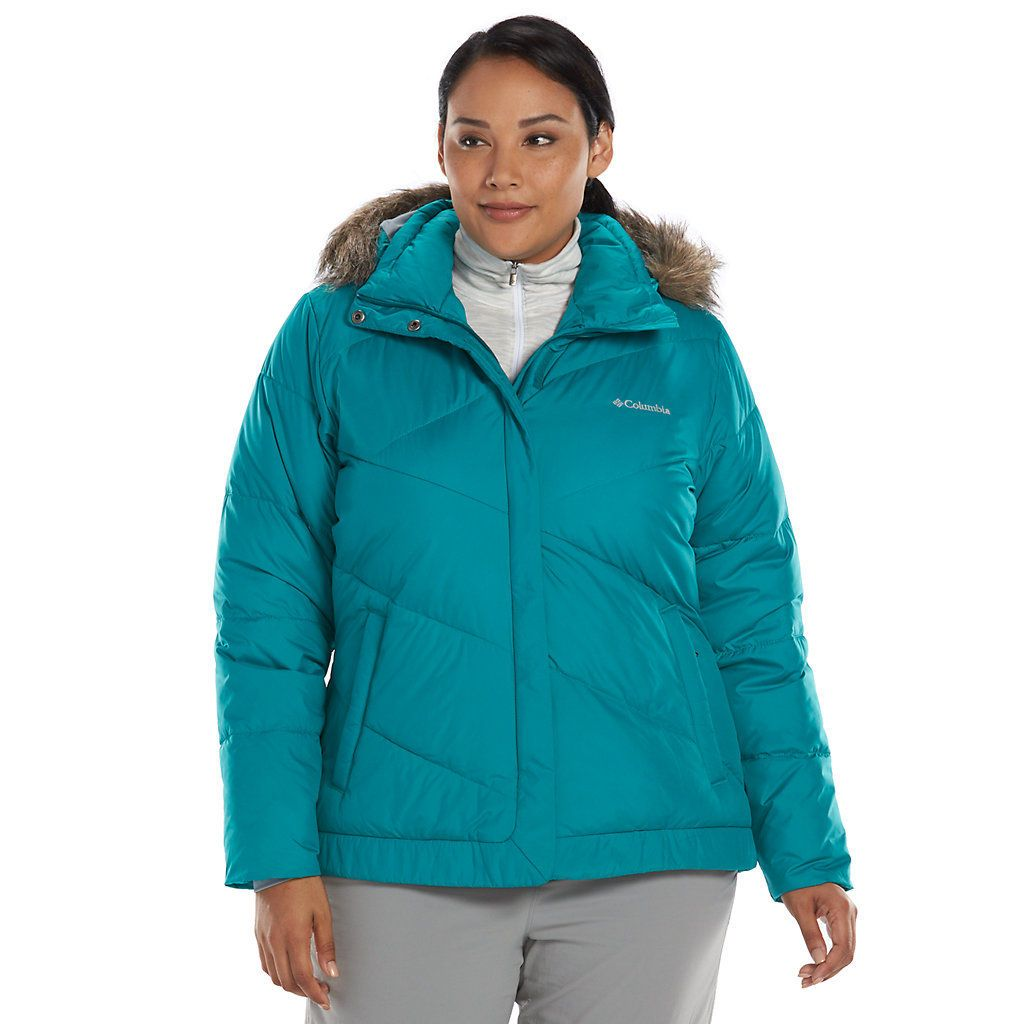 Plus Size Columbia Snow Eclipse Hooded Puffer Jacket Puffer Jacket Outfit Puffer Jacket Women Plus Size Outfits [ 1024 x 1024 Pixel ]