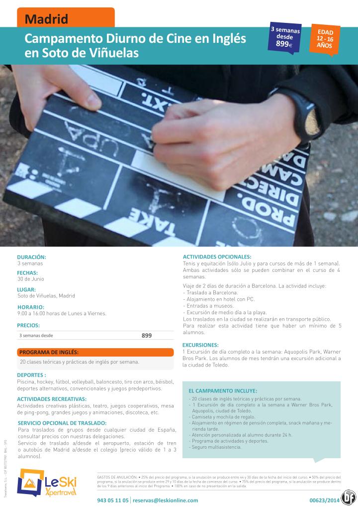 MADRID: Campamento Diurno de Cine en Inglés en Soto de Viñuelas desde 899€ ultimo minuto - http://zocotours.com/madrid-campamento-diurno-de-cine-en-ingles-en-soto-de-vinuelas-desde-899e-ultimo-minuto/