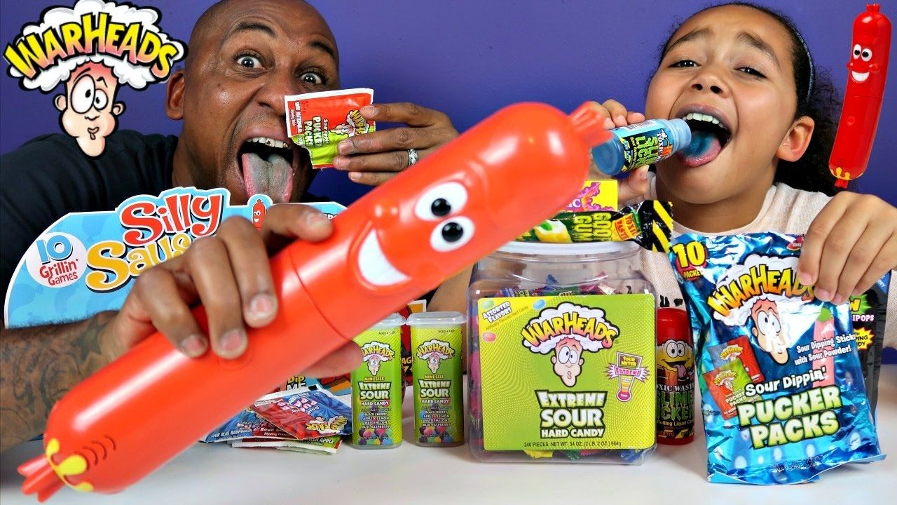Silly Sausage Toy Challenge Game Warheads Extreme Sour