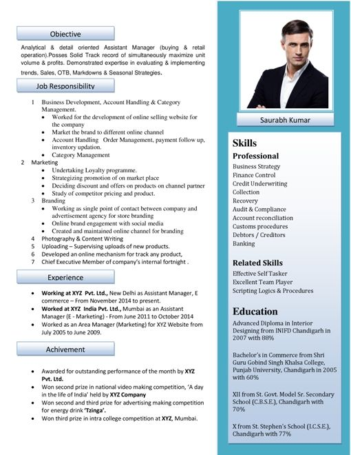 best cv format - Onwebioinnovate