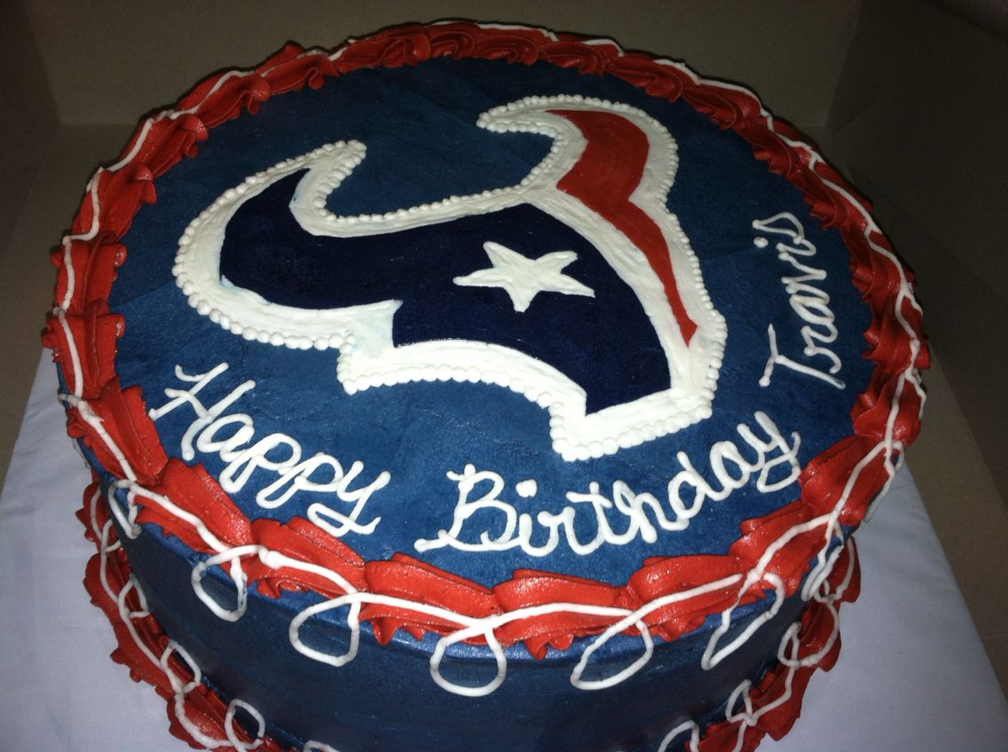 Marvelous Texans Birthday Cake Houston Texans Birthday Cake With Images Birthday Cards Printable Giouspongecafe Filternl