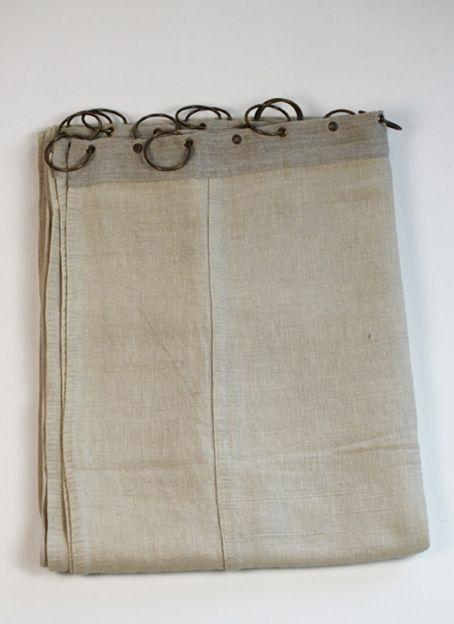 Nomade   Jute U0026 Cotton Curtains + Rings