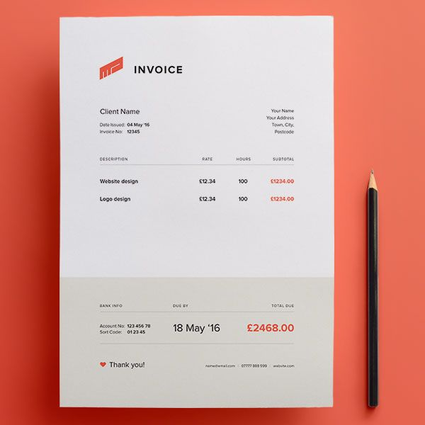 Free Invoice Template Psd Invoice Design Template Invoice Design Invoice Template