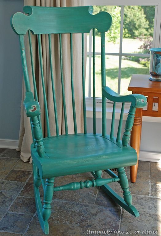 Painted Wooden Chairs painted rocking chair with ascp provence and florence | kitchen