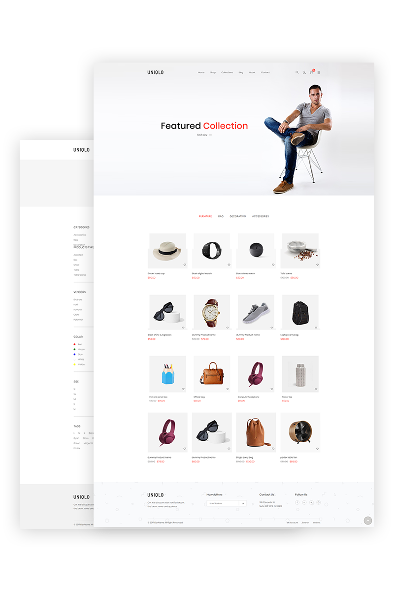Uniqlo Minimal Shopify Theme Design Bundle Pinterest Website