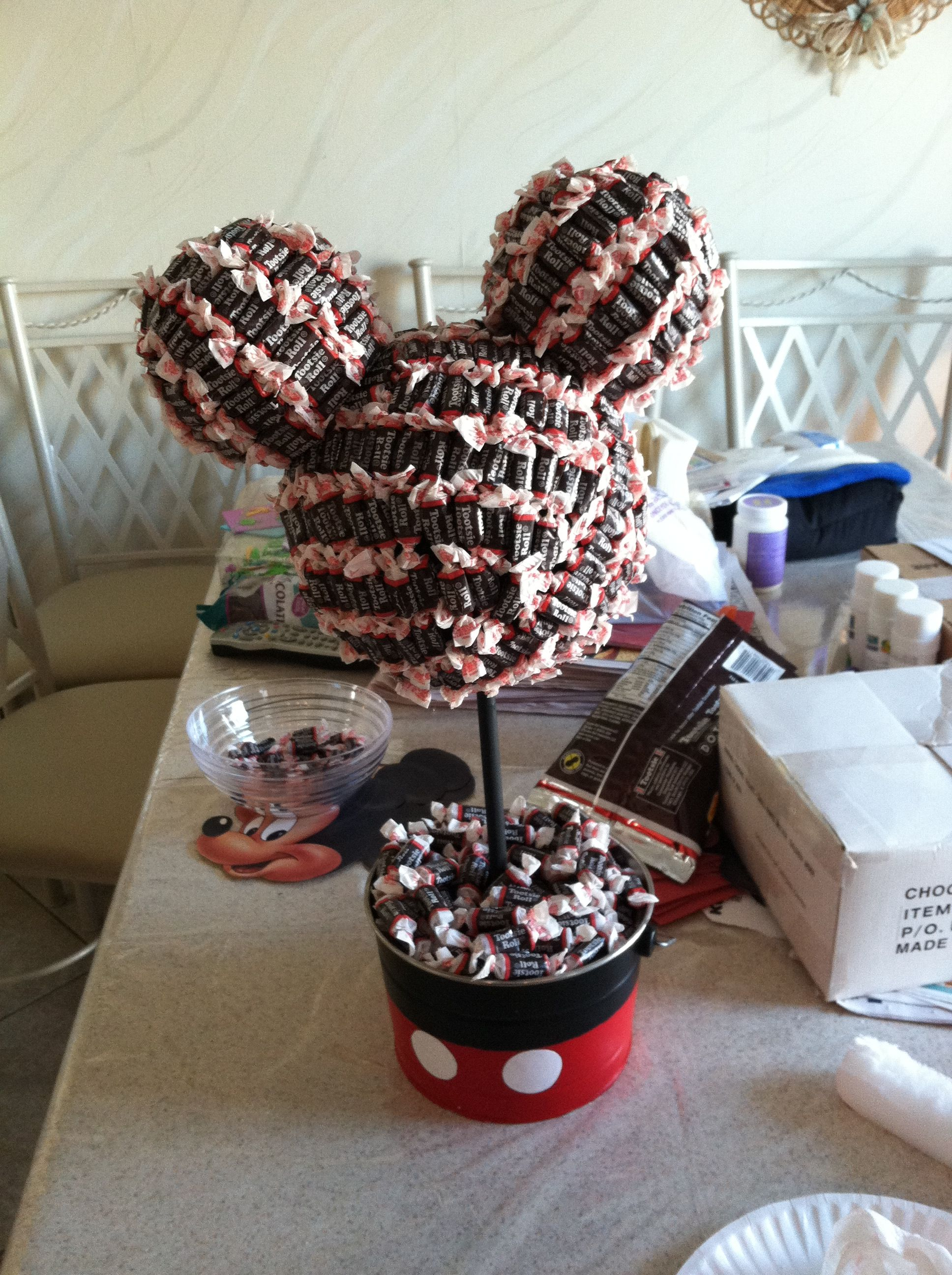 Mickey Mouse Tootsie Roll Tree Mickey Mouse Party In