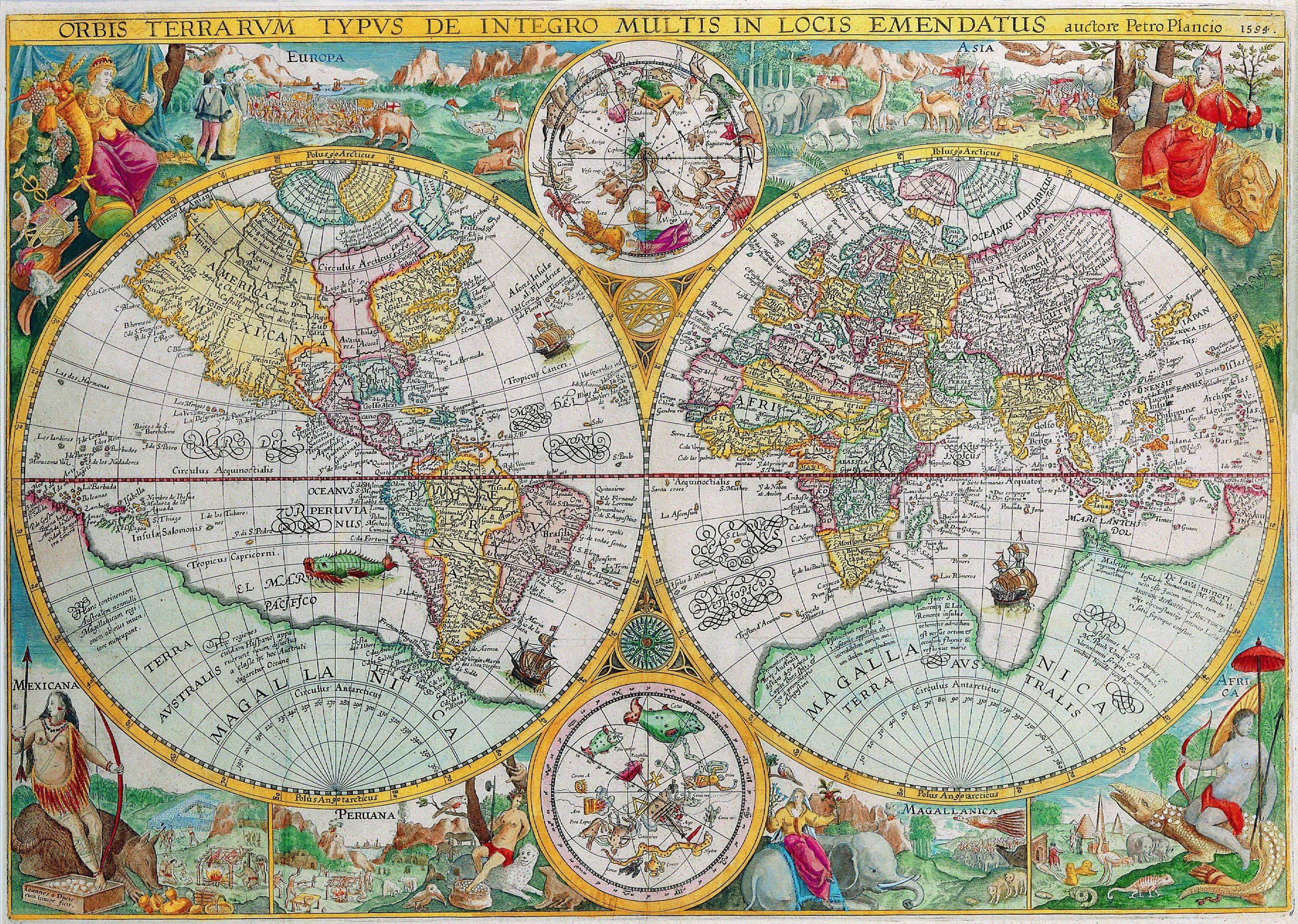 PLANCIO, Petro - Orbis Terrarum, 1594
