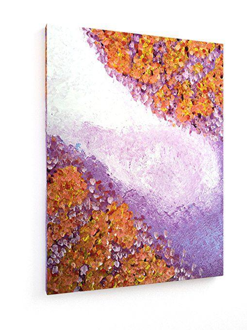 Sommernächte - 45x60 cm - Textil-Leinwandbild auf Keilrahmen - Wand - wohnzimmer bilder abstrakt