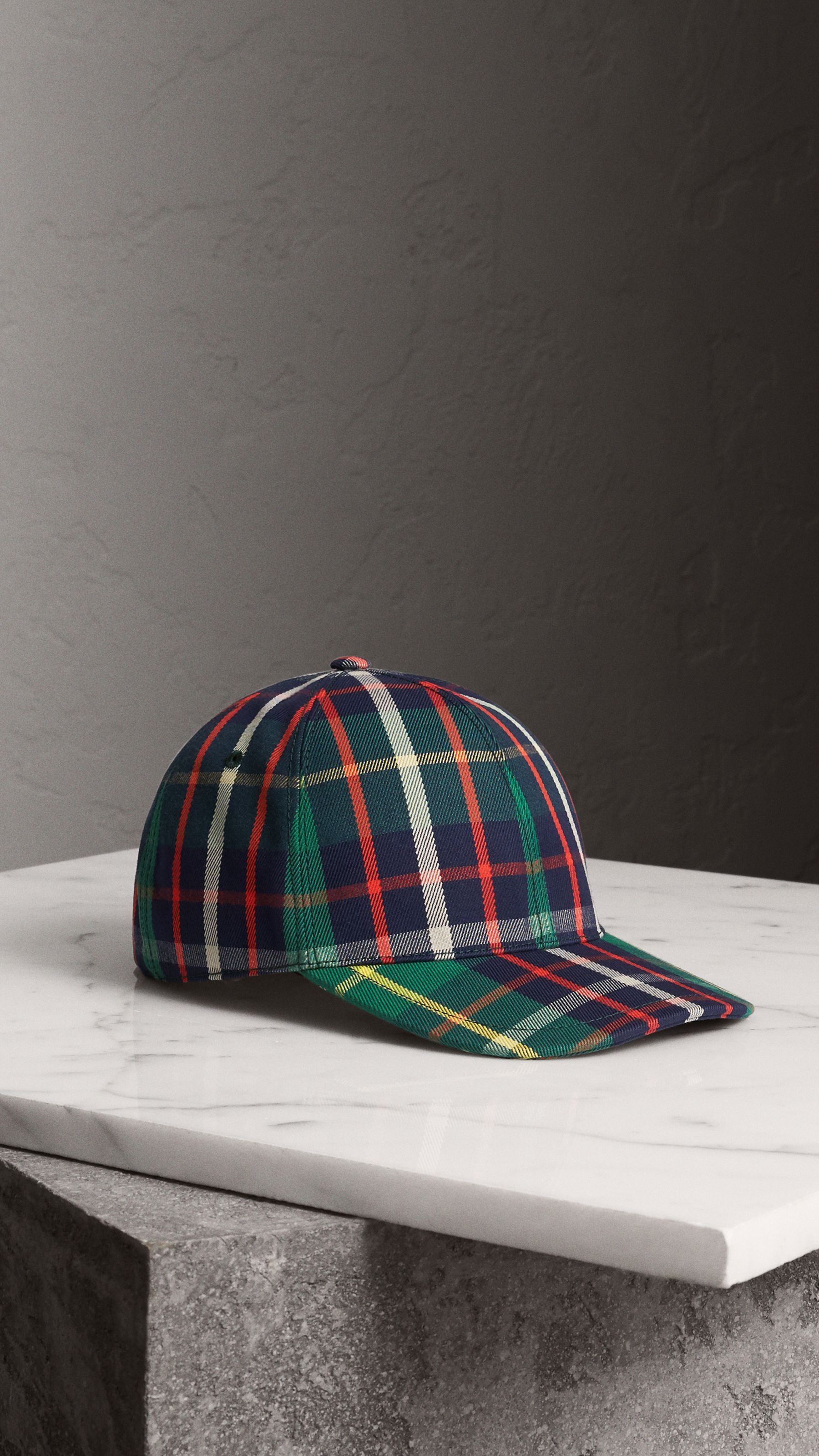 9a7cde245 Check Baseball Cap in Forest Green | Burberry United States ...