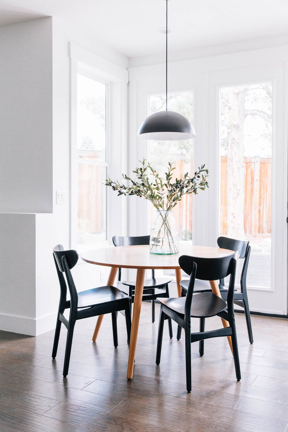 Black Dining Chairs Round Wood Table Modern Round Table Black Mushroom Pe Dining Room Design Round Table Round Dining Room Table Black Round Dining Table