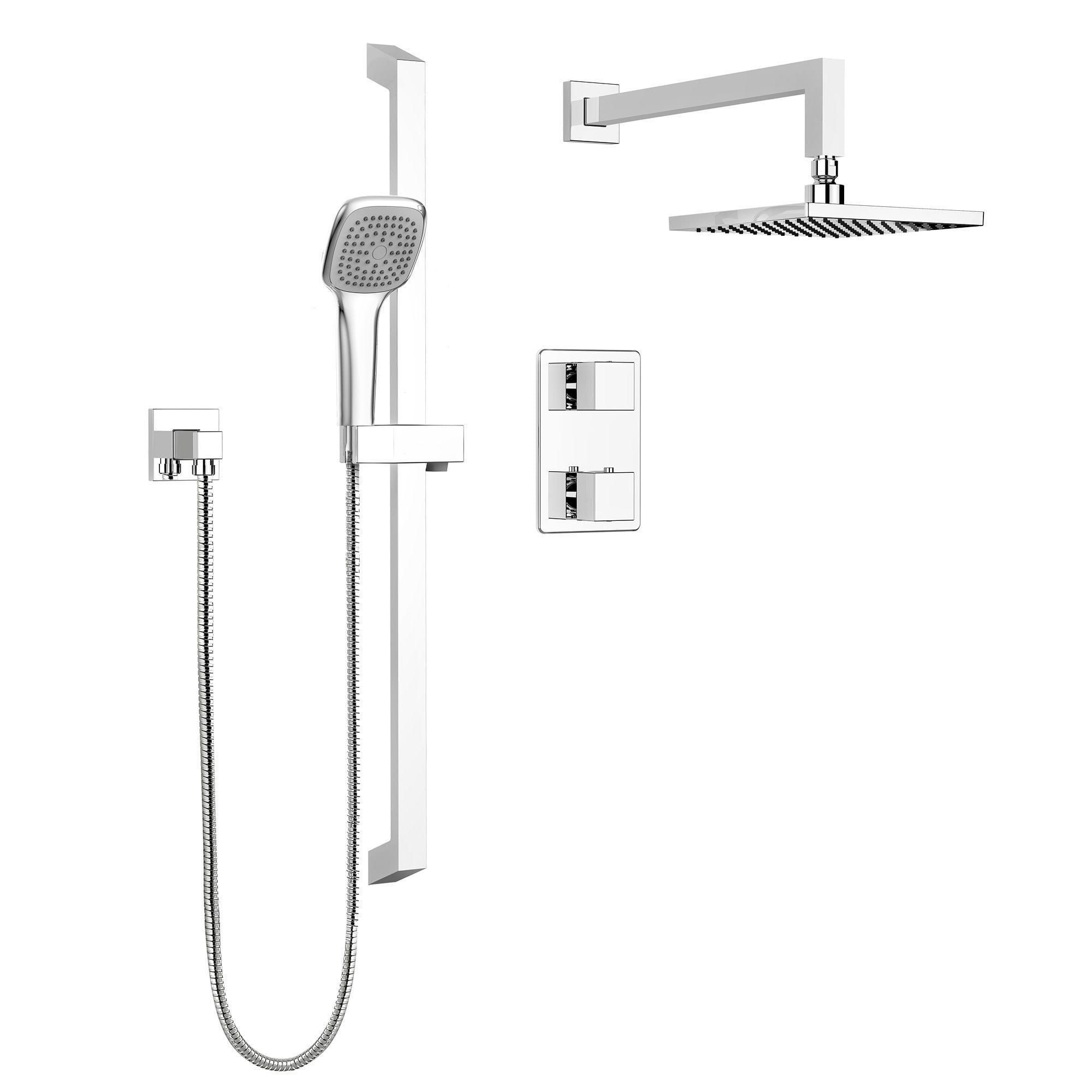 Keeney Stylish Square Shower Faucet Complete Set With