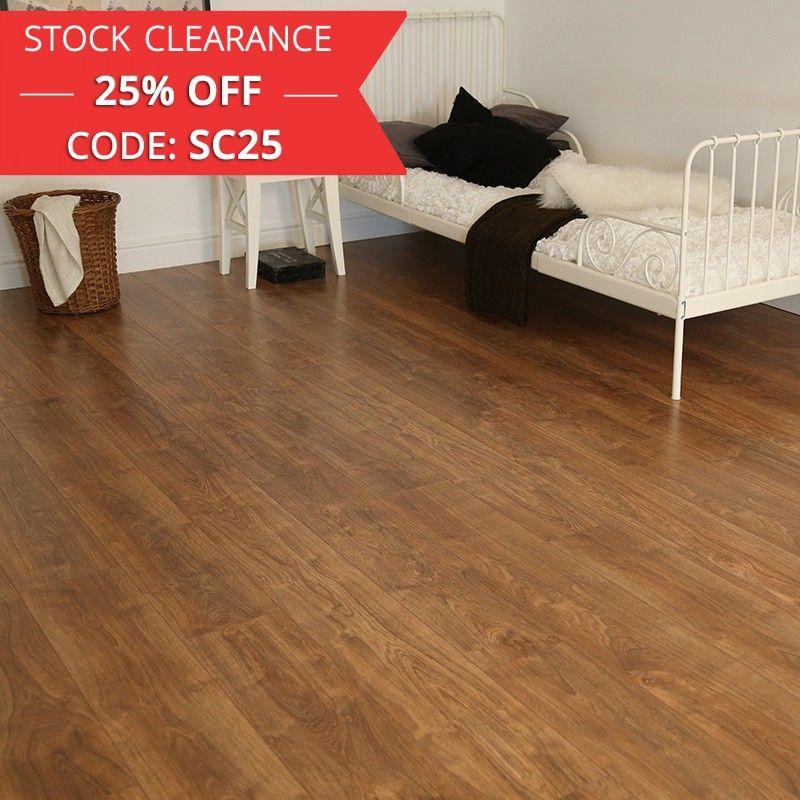Series Woods 7mm Rustic Oak V Groove Laminate Flooring